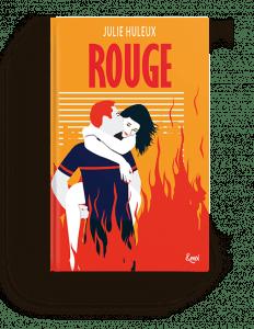 Couverture illustrée Rouge Julie Huleux
