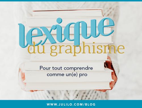Le lexique du graphisme