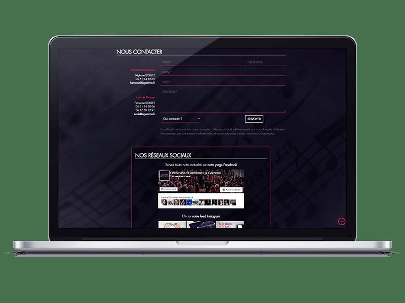 Harmonie La Garonne Site internet