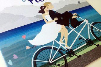 Faire-part de mariage tandem Aline et Florian